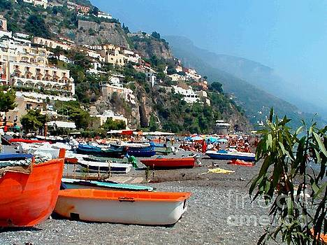 Positano Beach by Josephine Benevento-Johnston