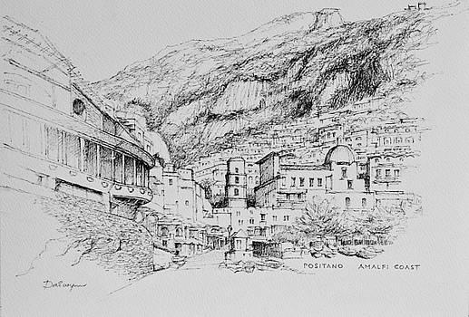 Positano on the Amalfi Coast of Italy by Dai Wynn
