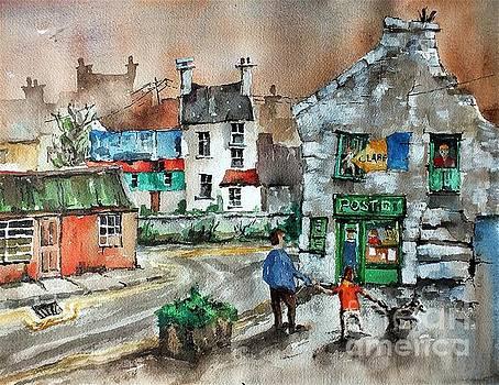 Val Byrne - Post Office Mural in Ennistymon Clare