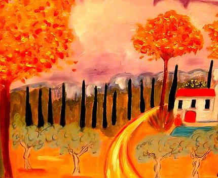 Postale de Provence by Rusty Woodward Gladdish