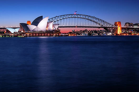 Postcard  of Sydney Waterfront   by Daniela Constantinescu