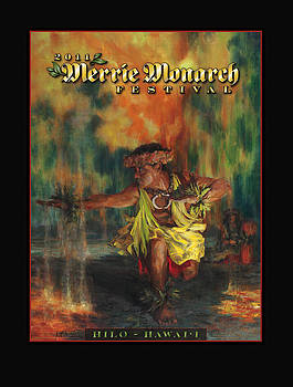 Poster for 2011 Merrie Monarch by Rod Cameron