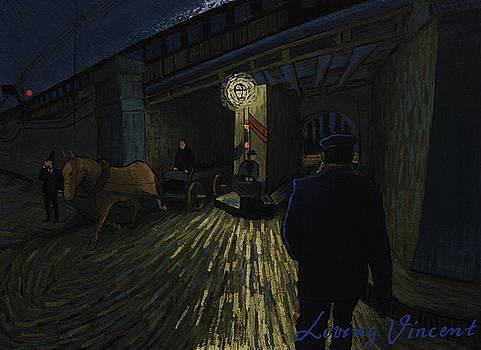 Postman walks over the bridge by Lukasz Gordon