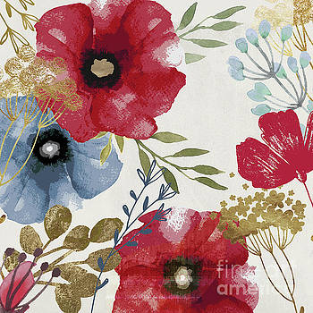 Posy Watercolor Poppies by Mindy Sommers