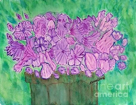 Pot of Purple by Nancy Pace