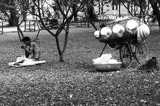 Pot Seller Rests by Timothy Leonard