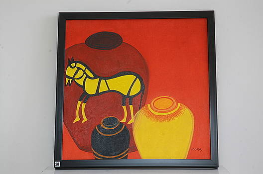 Pot With Horse by Mona Bhavsar
