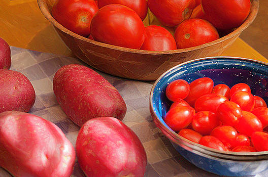 Potatoes and Tomatoes Still Life by Sherri Meyer