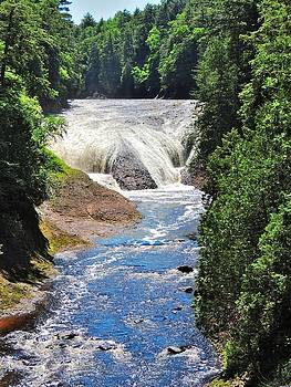 Potawatomi Falls - Upper Peninsula - Michigan by Mikel Classen