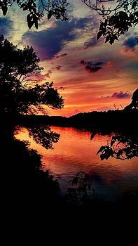 Potomac Sunset by Kevin D Davis