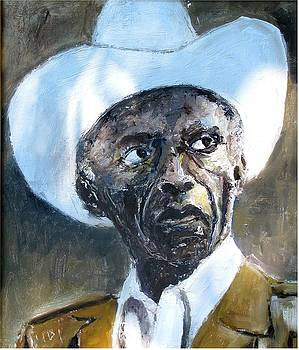 Potrait Of Drummer Art Blakey by Udi Peled