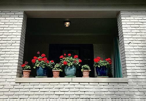 Pots in the Window by Leslie Brashear