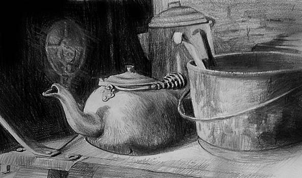 Pots on Old Stove by William Hay