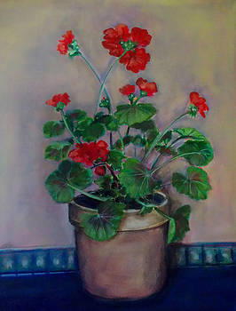 Potted Geranium by Irena Mohr