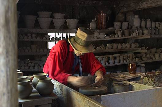 Potter at Old Sturbridge Village in Massachusetts by Mike McCool