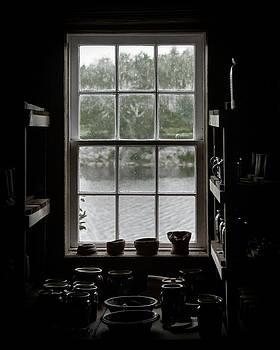 Pottery Studio Window on the River in Sherbrooke Village Nova Scotia by Art Whitton