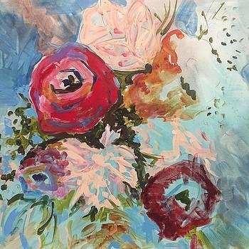 Powder Blue Roses by Karen Ahuja