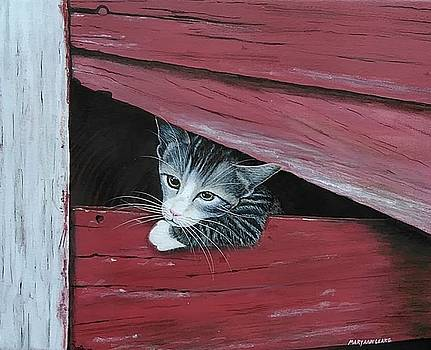 Powder Peeking Out of Barn by Mary Ann Leake