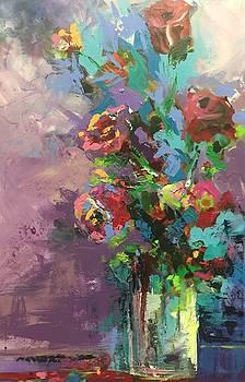 Powder Roses by Karen Ahuja