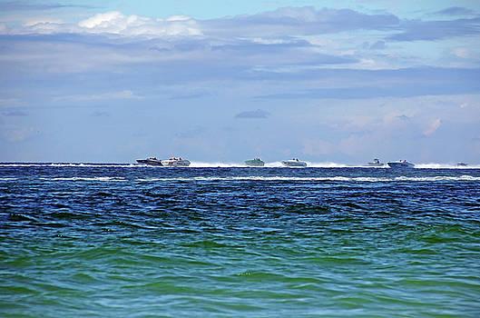 Power Boat Race - Englewood Florida by Debbie Oppermann