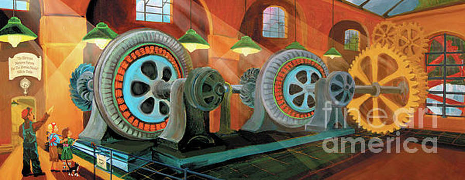 Power Plant Turbines by Donna Hall