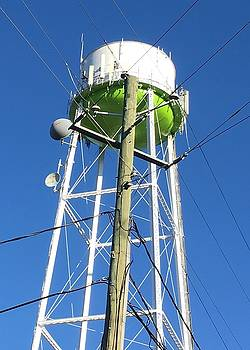 Power Pole meets Water Tower by Douglas Fromm