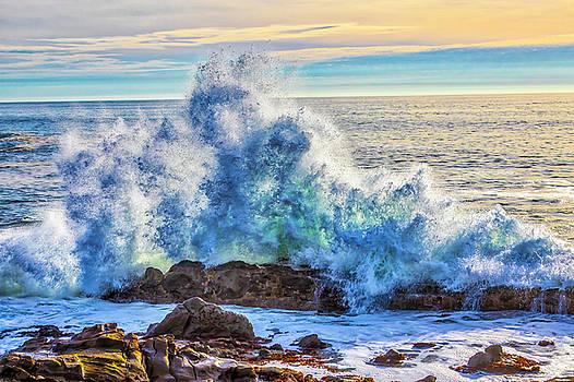 Powerful Wave Breaking On Rocks by Garry Gay