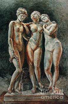 Pradier's Three Graces- Louvre Museum by Joey Agbayani
