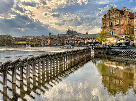 Prague and Vitava River by Claudio Bacinello