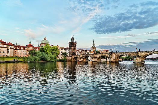 Sharon Popek - Prague From the River