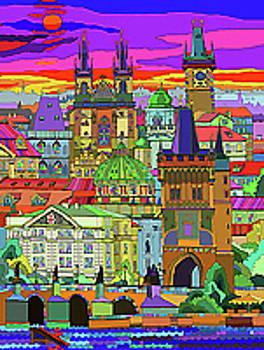 Prague Panorama Old Town by Yuriy  Shevchuk