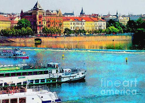 Justyna Jaszke JBJart - Prague panorama watercolor
