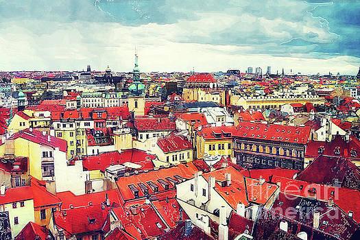 Justyna Jaszke JBJart - Prague panorame city