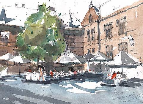 Prague Piazza by Gaston McKenzie