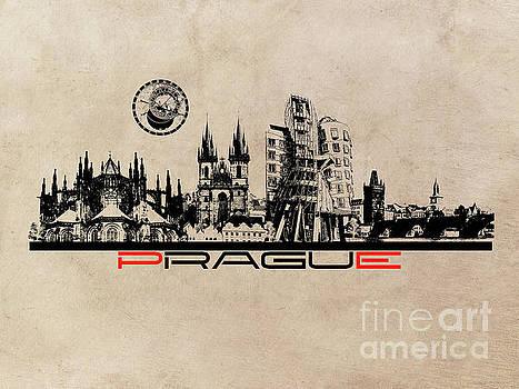 Justyna Jaszke JBJart - Prague skyline city