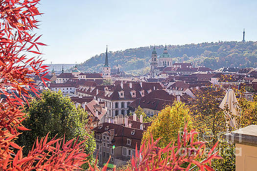 Prague skyline in the autumn  by Travel and Destinations - By Mike Clegg