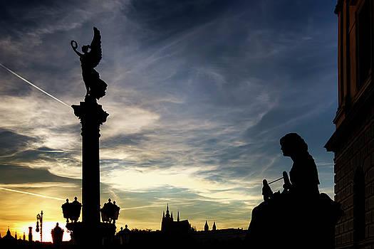 Colin Cuthbert - Prague Statues at Sunset
