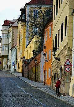 Prague Street by Rick Macomber