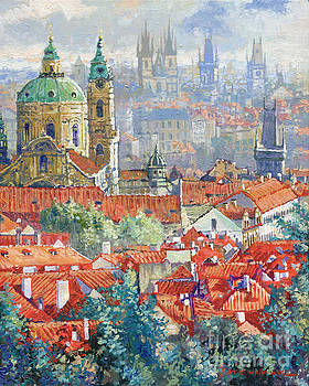 Prague Summer Panorama 1 by Yuriy Shevchuk