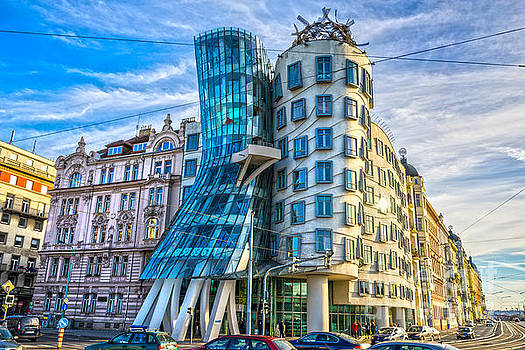 Prague - The Dancing house by Luciano Mortula
