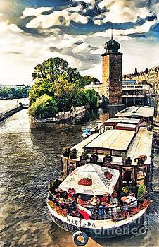 Justyna Jaszke JBJart - Prague Vltava river cruise watercolor