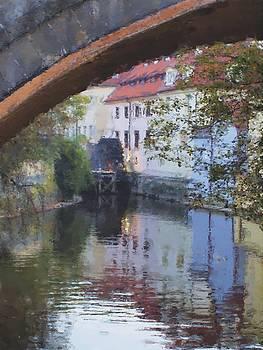 Praha Canal Dusk by Shawn Wallwork