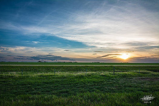 Prairie Sunset by Adnan Bhatti