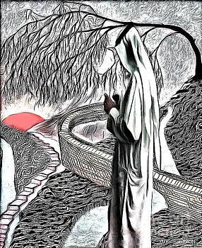 Prayer By The Wall by Yury Bashkin