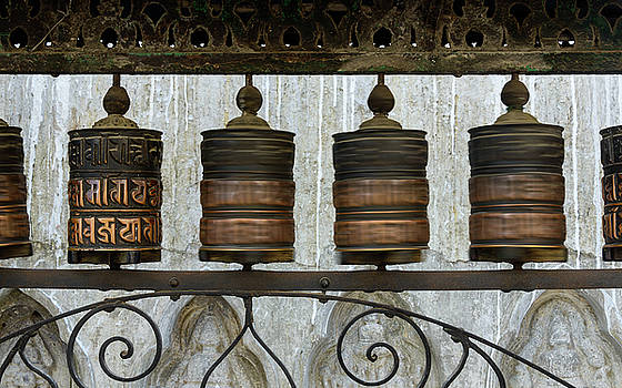 Prayer wheels in Kathmandu by Dutourdumonde Photography