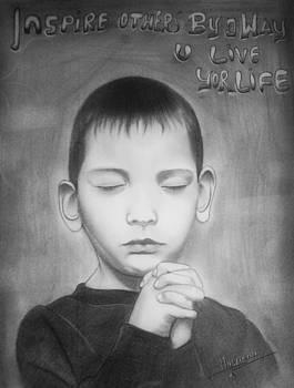 Praying baby  by Himanshu Jain