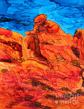 Praying Lady at Red Rock Canyon 2 by Vicki  Housel