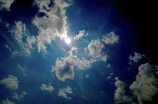 Pre-Totality Solar Eclipse Sky by Larry Jost