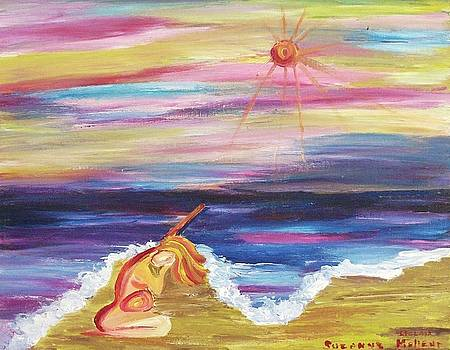 Suzanne  Marie Leclair - Pregnant Woman at the Ocean