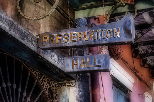 Preservation Hall Sign by Jerry Fornarotto